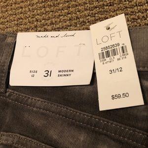 LOFT Pants - NWT LOFT • 31 (12) • Corduroy Skinny Pants - Gray
